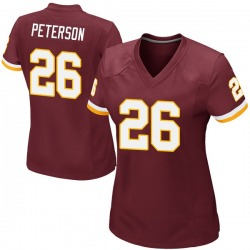 Nike Adrian Peterson Washington Redskins Women's Game Burgundy Team Color Jersey